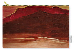 Sunset On Red Mountain Carry-all Pouch