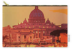 Sunset On Rome The Eternal City Carry-all Pouch