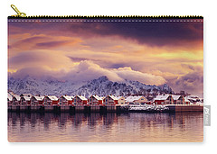 Sunset On Svolvaer Carry-all Pouch