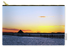 Sunset On The Bay Carry-all Pouch by Elsa Marie Santoro