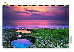Sunset On The Beach In Bali Carry-all Pouch