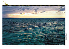 Sunset On The Caribbean Carry-all Pouch by Lars Lentz