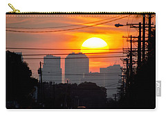 Sunset On The City Carry-all Pouch