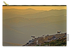 Carry-all Pouch featuring the photograph Sunset On The Edge by Scott Mahon