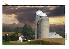 Sunset On The Farm Carry-all Pouch by David Dehner