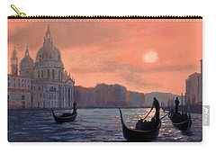 Sunset On The Grand Canal In Venice Carry-all Pouch