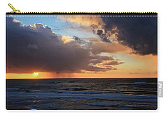 Sunset On The Pacific Carry-all Pouch by Katie Wing Vigil