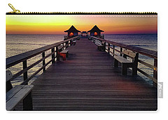 Sunset On The Pier Carry-all Pouch by TK Goforth