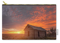 Carry-all Pouch featuring the photograph Sunset On The Prairie  by Darren White