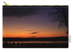 Sunset On The River Carry-all Pouch by Joni Eskridge