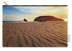 Carry-all Pouch featuring the photograph Sunset On The Sands Of Brookings by James Eddy