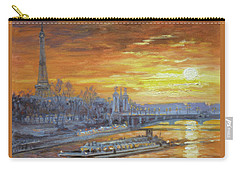 Sunset On The Seine, Paris Carry-all Pouch