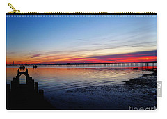 Sunset On The Shore Of Southend Carry-all Pouch