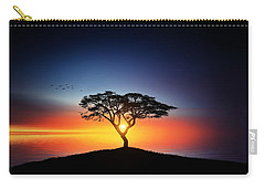 Sunset On The Tree Carry-all Pouch by Bess Hamiti