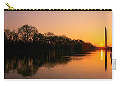 Sunset On The Washington Monument & Carry-all Pouch by Panoramic Images