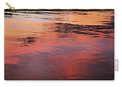 Sunset On Water Carry-all Pouch by Theresa Tahara