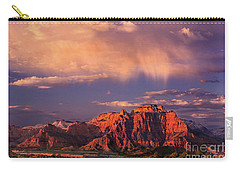 Sunset On West Temple Zion National Park Carry-all Pouch by Dave Welling