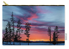 Sunset Over A Farmers Field, Cowboy Trail, Alberta, Canada Carry-all Pouch