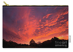 Sunset Over A Maine Farm Carry-all Pouch by Alana Ranney