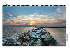 Sunset Over A Rock Jetty On The Chesapeake Bay Carry-all Pouch