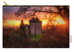 Carry-all Pouch featuring the photograph Sunset Over Castle Campbell In Scotland by Jeremy Lavender Photography