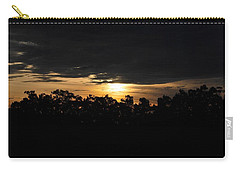 Sunset Over Farm And Trees - Silhouette View  Carry-all Pouch by Matt Harang
