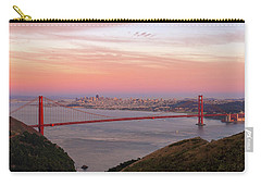 Sunset Over Golden Gate Bridge And San Francisco Skyline Carry-all Pouch