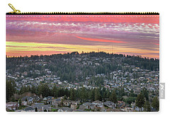 Sunset Over Happy Valley Residential Neighborhood Carry-all Pouch