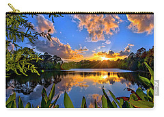 Sunset Over Hidden Lake In Jupiter Florida Carry-all Pouch by Justin Kelefas