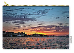 Sunset Over Huntington Harbour Carry-all Pouch by Peter Dang
