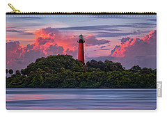 Sunset Over Jupiter Lighthouse, Florida Carry-all Pouch by Justin Kelefas