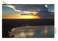 Carry-all Pouch featuring the photograph Sunset Over Lake by Carolyn Marshall