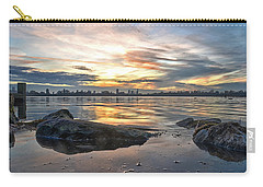Carry-all Pouch featuring the photograph Sunset Over Lake Kralingen  by Frans Blok