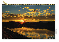 Sunset Over Lake Weiss Carry-all Pouch by Barbara Bowen
