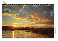 Sunset Over Marsh Carry-all Pouch by Bonfire Photography