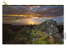 Sunset Over Marsh Carry-all Pouch by Joe Belanger