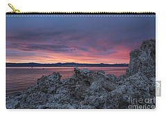 Carry-all Pouch featuring the photograph Sunset Over Mono Lake by Sandra Bronstein