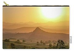 Carry-all Pouch featuring the photograph Sunset Over Mt Sugarloaf by Keiran Lusk