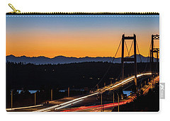 Sunset Over Narrrows Bridge Panorama Carry-all Pouch by Rob Green