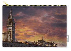 Sunset Over Port Of San Francisco Ferry Building Carry-all Pouch