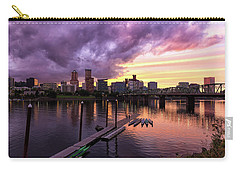 Sunset Over Portland Oregon Downtown Waterfront Carry-all Pouch
