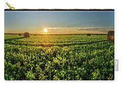 Carry-all Pouch featuring the photograph Sunset Over Prince Edward Island Clover by Chris Bordeleau