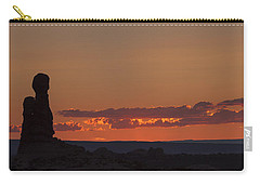 Sunset Over Rock Formation Carry-all Pouch