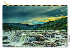Sunset Over Sandstone Falls Carry-all Pouch