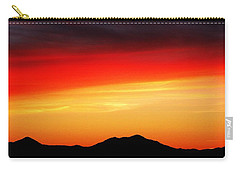 Sunset Over Santa Fe Mountains Carry-all Pouch by Joseph Frank Baraba
