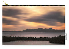 Carry-all Pouch featuring the photograph Sunset Over St. John And St. Thomas Panoramic by Adam Romanowicz
