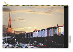 Carry-all Pouch featuring the photograph Sunset Over St Mary Redcliffe Bristol by Terri Waters