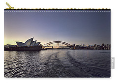 Sunset Over Sydney Harbor Bridge And Sydney Opera House Carry-all Pouch by Douglas Barnard