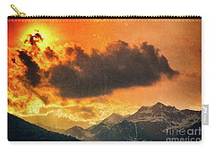 Carry-all Pouch featuring the photograph Sunset Over The Alps by Silvia Ganora