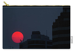 Sunset Over The City Of Portland Oregon Carry-all Pouch